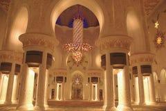 Шейх Zayed Грандиозн Мечеть внутрь Стоковое Фото
