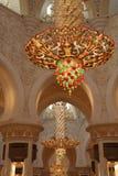Шейх Zayed Грандиозн Мечеть внутрь Стоковые Изображения