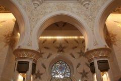 Шейх Zayed Грандиозн Мечеть внутрь Стоковые Изображения RF