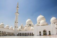 Шейх Zayed Грандиозн Мечеть в Абу-Даби, Объединенных эмиратах Стоковые Фото
