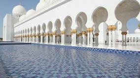 Шейх Zayed Грандиозн Мечеть в Abu Dhabi видеоматериал