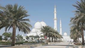 Шейх Zayed Грандиозн Мечеть в Abu Dhabi акции видеоматериалы