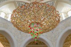 Шейх Zayed Грандиозн Мечеть Стоковая Фотография