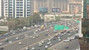 Шейх Zayed Дорога, Дубай, ОАЭ сток-видео