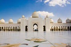 Шейх Zayed Мечеть, Абу-Даби, Объединенные эмираты Стоковое фото RF