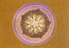 Шейх Zayed Мечеть Канделябр и украшения потолка Стоковая Фотография