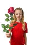 шелк красного цвета девушки розовый Стоковые Фото