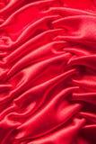 шелк красного цвета крупного плана Стоковые Изображения