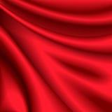 шелк красного цвета предпосылки Стоковая Фотография RF