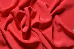 шелк красного цвета предпосылки Стоковая Фотография
