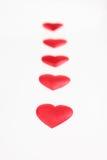 шелк красного цвета путя сердец Стоковые Изображения