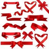 шелк красного цвета собрания знамени Стоковые Фотографии RF