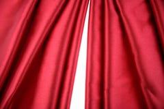 шелк красного цвета ткани Стоковая Фотография RF