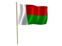 шелк Мадагаскара флага Стоковое Изображение