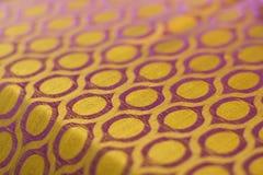 шелк сари kanchipuram Стоковые Изображения RF