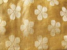 шелк ткани флористический Стоковое Изображение