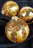 шелк украшения рождества стоковые изображения rf