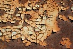шелушение краски металла ржавое Стоковое Изображение