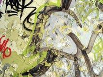 шелушение краски надписи на стенах Стоковая Фотография RF