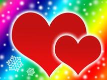 шелушится снежок 2 сердец бесплатная иллюстрация