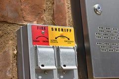шериф замка строба пожара Стоковое Изображение RF