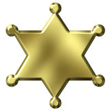 шериф значка Стоковые Изображения RF