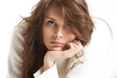 шерсти белизны свитера девушки Стоковая Фотография