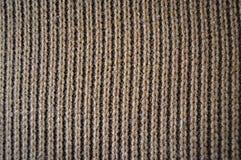Шерсти Брауна вязать, предпосылки текстуры стоковая фотография rf