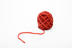 шерсти изолированные шариком белые Стоковые Изображения RF