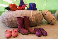 Шерсти, мода, ботинки, крышка, одежды стоковое фото