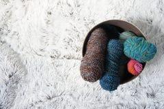 Шерсти на уютном ковре Стоковые Изображения RF