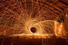 Шерсти ночи фабрики стальные стоковые изображения rf