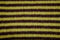 шерсти striped тканью Стоковое Изображение
