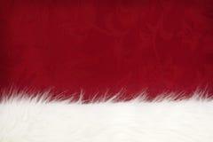 шерсть над красным цветом Стоковая Фотография