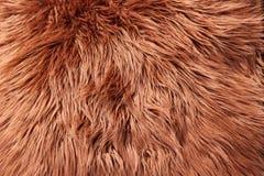 шерсть предпосылки коричневая Стоковые Изображения RF