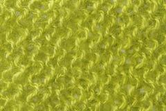 Шерстяная предпосылка текстуры, связанная ткань шерстей, fluf зеленого цвета волосатое Стоковое фото RF