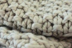 Шерстяной шарф вязания крючком Стоковые Фотографии RF