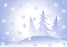 Шерст-деревья под снежности. стоковое изображение rf