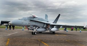 Шершень McDonnell Douglas CF-188 на авиасалоне Scampton 10-ого сентября 2017 Основание военно-воздушных сил Великобритании Линкол Стоковые Изображения RF