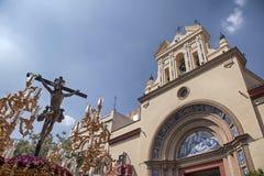 Шествие братства щенка Triana, святая неделя в Севилье Стоковая Фотография