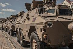 Шествие военного транспортного средства Стоковые Изображения RF