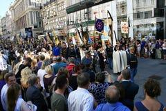 Шествие государственных похорон Оттон von Habsburg Стоковые Фото