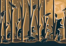 Шествие крыс на ночи хеллоуина стоковое изображение