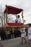 Шествие людей во время фестиваля в од Стоковые Изображения RF
