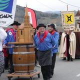 Шествие людей во время фестиваля в од Стоковое Изображение