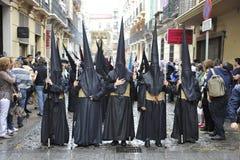 Шествие пасхи в Малаге стоковое фото