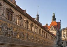 Шествие принцых в Дрездене, Германии стоковая фотография