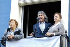 шествие района Аликанте Santa Cruz Стоковые Фотографии RF