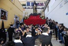 шествие района Аликанте Santa Cruz Стоковая Фотография RF