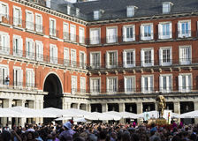 Шествие Сан Isidro в области старого Мадрида Стоковые Изображения